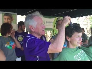 Toni, Sarah and Coach Tom Sermanni participated in the St. Baldrick's Space Coast Shave this afternoon.