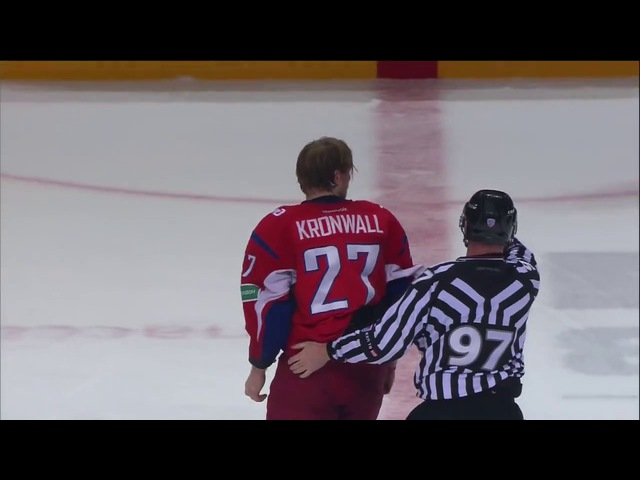 Бой КХЛ: Кронвалль VS Яласваара / KHL Fight- Kronwall VS Jalasvaara