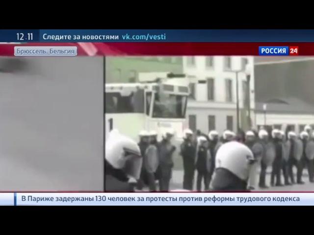 В брюссельском Моленбеке журналистов атаковали в прямом эфире