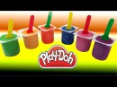 Learn Colours With Yogurt Play Doh Surprise Spider-Man SpongeBob Paw Patrol Stikeez Cup Hello Kitty