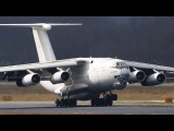 CRAZY russian ILYUSHIN IL-76 Landing - NOSE UP after Touchdown !!