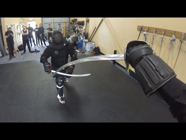 HEMA instructors fighting with the Polish saber - Lee Smith vs. Richard Marsden