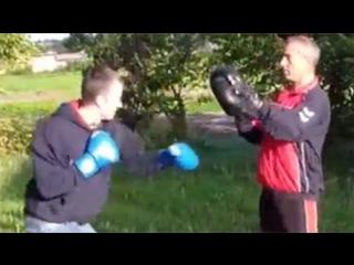 Драка. Как научиться драться. Работа на лапах