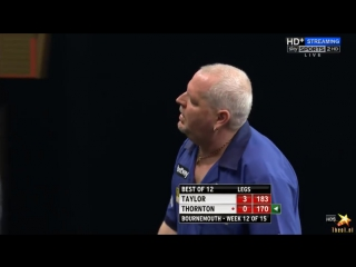 Phil Taylor vs Robert Thornton (2016 Premier League Darts / Week 12)