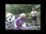 Булат Окуджава и Фазиль Искандер на водопаде Собачьей речки (США, ш.Вермонт, лето 1990г.)