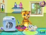 Мультик ИГРА для детей Рыжик учит стирать говорящий джинджер стирает игры про котят
