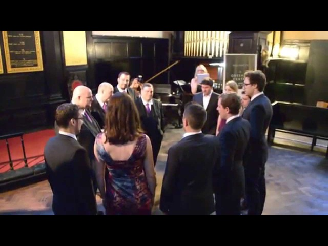 Voces8 sing to Crossroads Barbershop Quartet from America (Afterglow)