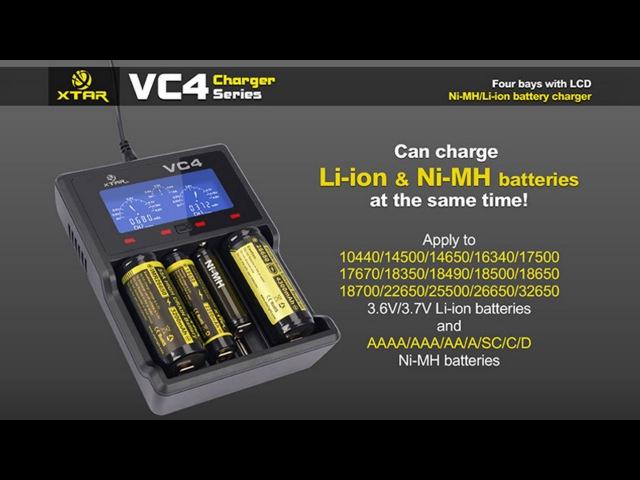 Информационный обзор и комплектация умного зарядного устройства XTAR VC4 Gearbest!