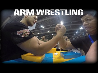 ARMWRESTLING at ARNOLD CLASSIC 2016 ASIA/ SIDE TABLE#腕相撲 #팔씨름 #手臂摔跤