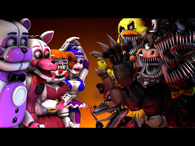 [SFM FNAF] Sister Location VS. Five Nights's at Freddy's