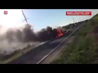 ДТП под Оренбургом  столкновении двух легковых автомобилей в Беляевском районе Оренбургской области