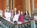 Студенты кафедры исторической информатики в Национальном архиве Финляндии