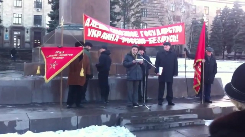 В ЕС из девушек делают консервы! Митинг в Днепропетровске! Ужжас жуткий!