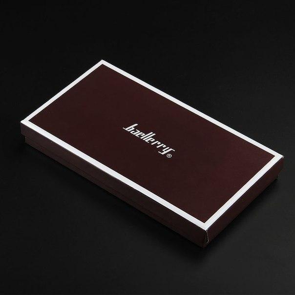 коробка Портмоне Baellerry чёрное и коричневое