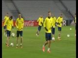 Тренировка сборной Украины в Лилле