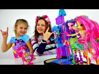Игры для девочек. Куклы - Май Литл Пони, Настя и Ксюша. Рок-группа Девочек Пони. Распаковка игрушек