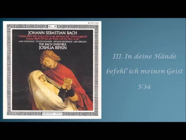 BACH Cantata BWV 106 Gottes Zeit ist die allerbeste Zeit Actus tragicus