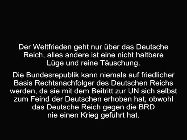 Warum die BRD nicht Deutschland ist und nie wird.