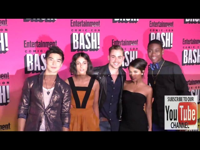 Power Rangers Ludi Lin, Naomi Scott, Dacre Montgomery, Becky G and RJ Cyler at the Entertainment We