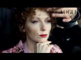 Ксения Кутепова. Бэкстейдж съемки для Vogue (2014)