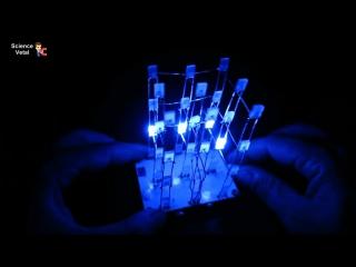Как собрать светодиодный куб новичку радиолюбителю