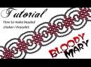 Tutorial beaded choker Bloody Mary Чокер из бисера в готическом стиле Кровавая Мэри