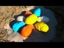Динозавры Яйца на русском гнездо киндер сюрприз тесто плей до डायनासोर के ...