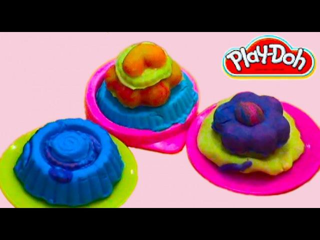 ПЛЭЙ ДО пирожные мороженое Play doh ice cream cakes DOH आइसक्रीम केक चलायें