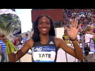 Cassandra Tate wins 400m Hurdles Women's Diamond League Brussels 2016 HD