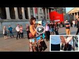 MIRROR BOX | Performance by Milo Moiré -censored- (Düsseldorf, London, Amsterdam 2016)