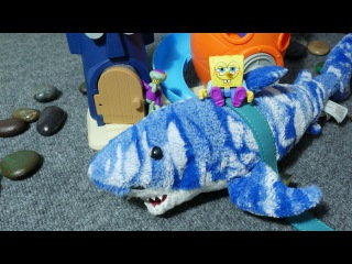 Игра Спанч Боб и Бикини Боттом - Сквидвард Губка Боб и Акула Джимми Toys Sponge Bob Bikini Bottom