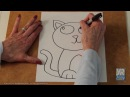 Teaching Kids How to Draw How to Draw a Kitten