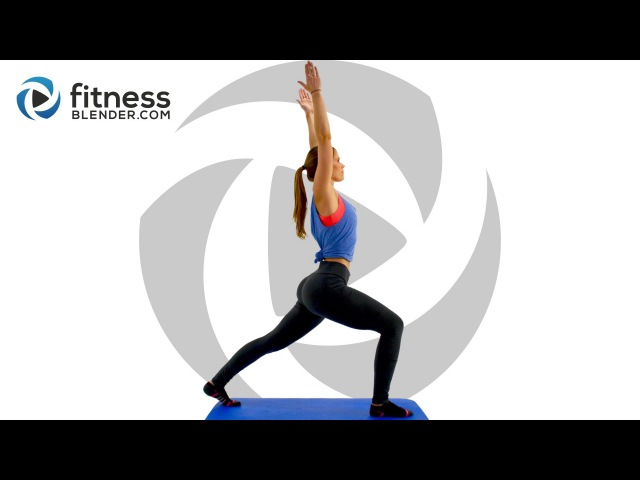 FitnessBlender - Day 1 Fluid Full Body Stretches for Flexibility. 3 Day Flexibility Challenge | Растяжка (стретчинг)