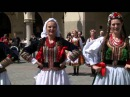 Dance Krakowiak. Beautiful Polish falk dance. Dancing in the street :-)
