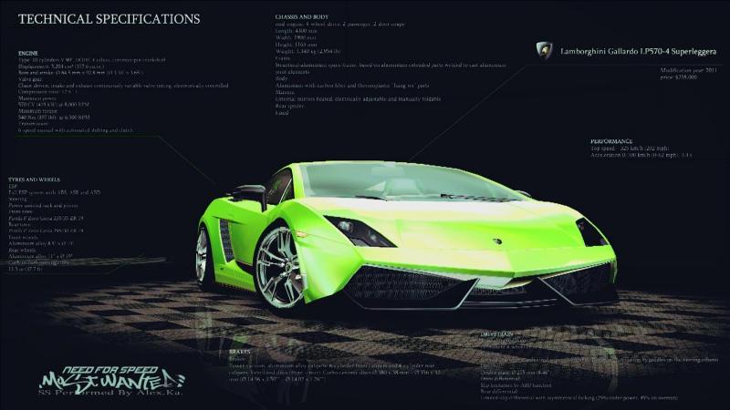 NFSMW2005 Lamborghini Gallardo LP570-4 Superleggera Showroom Demo