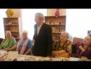Иван Степанович Митрюшин читает стихотворение о моряках