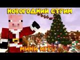 Новогодний стрим: Диллерон и Миникотик в гостях (Cristalix и Hypixel) Свин Плей