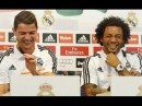 Cristiano Ronaldo and Marcelo attack sufferers Risa during the Real Madrid conference