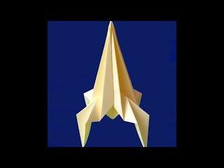 Ракета из бумаги - просто. Ракета оригами. Paper rocket. Origami rocket - easy.