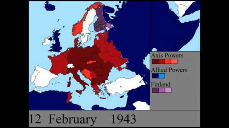 Вторая Мировая Война в Европе - День за днем
