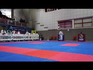 Bronze Medal match Kata Male: SHIMBABA ISSEI (JPN) VS CHENG TSZ MAN CHRIS (HKG) - Karate 1 Premier League Salzburg 2016
