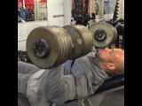 "@juandieselmorel on Instagram: ""Video of today smashing chest with the 160 #nowitsaparty few weeks and I'll be using 180 for reps on the incline 8 weeks out to…"""