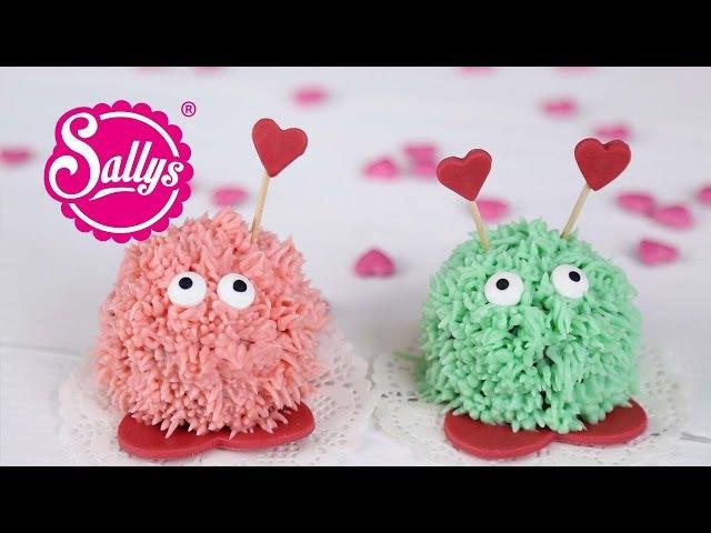 Valentinstags Muffins kleine süße Puschel zum Verschenken