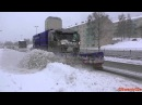Snow Plows At Work During Heavy Snowfall