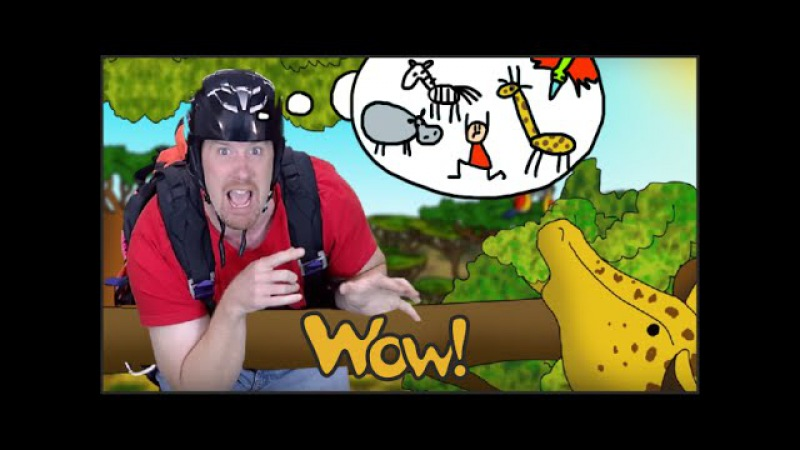 Animals on Safari with Steve and Maggie Story for Children English for Kids