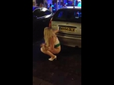 Girl Caught Pissing In The Street