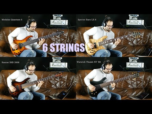6-String Basses | Modulus | Roscoe | Spector | Warwick - Comparison w/ AngelDust Guitars