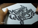 """Hand Lettering Tutorial, """"Stronger Than Yesterday"""""""