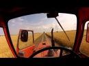 На тракторе МТЗ-80, через поле, с ветерком.