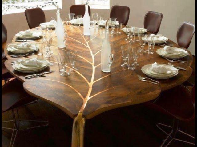 Красивые столы из дерева своими руками обеденные кухонные трансформеры и жур